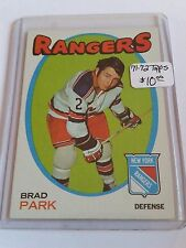 1971-72 Topps #40 Brad Park : New York Rangers