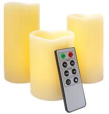 Vanilla Plastic Candles & Tea Lights