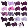 DQT Purple Mens Tie Hanky Set Solid Plain Plaid Patterned Floral Paisley Polka