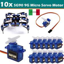 10 pezzi SG90 9g Mini Micro Servo per Robot RC elicottero aereo auto barca nuovo