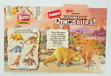 1989 Wendys Playskool Definitely Dinosaurs Kids Meal Box New Old Stock