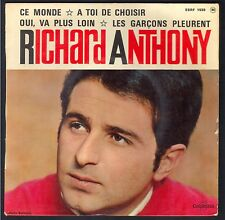 RICHARD ANTHONY 45T EP BIEM 1964 Columbia ESRF 1539 Ce monde