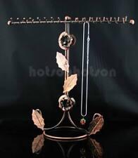 Cooper Floral Jewellery Necklace Ring Display Metal Stand Rack Holder 32 Hooks