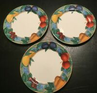 "(3) Victoria & Beale FORBIDDEN FRUIT 10 3/4"" Dinner Plates *****"