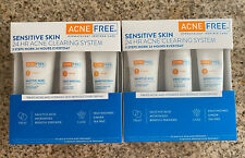 2 AcneFree Sensitive Skin 24 Hr Acne Clearing System Salicylic Benzoyl Peroxide