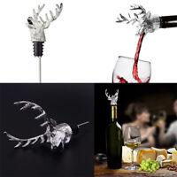 Deer Stag Head Wine Pourer Wine Bottle Stoppers Wine Aerators Bar Tools J&YNWK