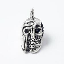 2pcs Skull Helmet Metal Beads Antique Silver 18x10mm - B0218638
