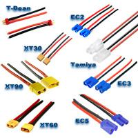 EC2 EC3 EC5 XT30 XT60 XT90 T Plug MPX Tamiya + Kabel Stecker Buchse Male Female