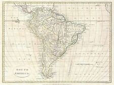 1799 CLEMENT CRUTTWELL MAP SOUTH AMERICA VINTAGE POSTER ART PICTURE 2883PYLV