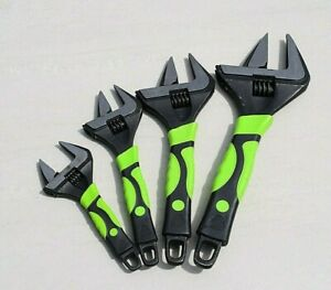 """Heavy duty Extra Wide Jaw Adjustable Wrench Spanner 6"""" 8"""" 10"""" 12"""" 0-60MM Opening"""