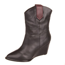 RRP €510 ROBERT CLERGERIE Leather Ankle Boots Size 37.5 EU 37 UK 4 US 7 Wedge