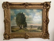 Vintage Framed Oil on Board Landscape Painting