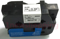 Great Quality Black on White Label Tape Compatible for Brother TZ Tze 251 24mm