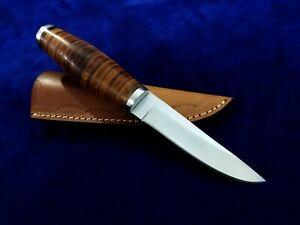 "9.1"" SEO Custom Handmade D2 TOOL STEEL SCANDINAVIAN PUUKKO Hunting Knife"