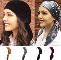 Muslim Bonnet Hijab Head Scarf Turban Chemo Cap Women Hat Headwrap Wrap Caps New