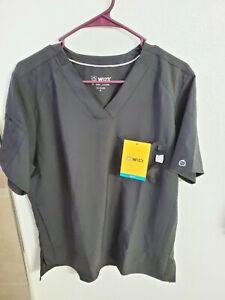 "WonderWink Men's Scrubs W123 V-Neck Top Black Size M(42""Chest/28""L) NWT"