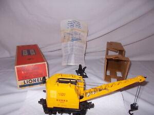 LIONEL CLEAN #3360 BURRO ACTION CRANE TESTED & WORKS & ORIGINAL BOX LOT #N-45
