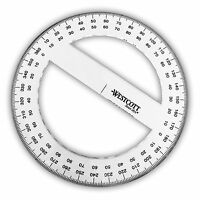 Westcott - Clear Plastic Full Circle 360 Degree Protractor - 15cm Diameter