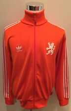 Rare Adidas Netherlands Nederland Holland KNVB Orange Soccer Track Jacket Sz L
