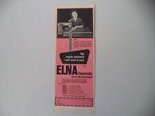 advertising Pubblicità 1957 MACCHINA PER CUCIRE ELNA SUPERMATIC