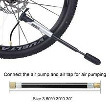 1X MTB Bike Bicycle Tire Gas Valve Adapter Inflater Air Pump Extension Pipe Tube