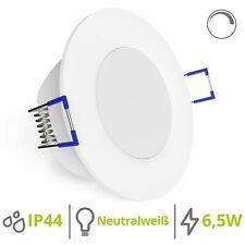 linovum® dimmbare LED Einbauleuchte 230V Bad IP44 4000K 6,5W extra flache 29mm