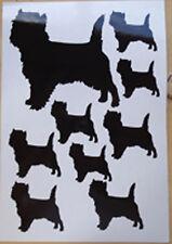 Cairn Terrier vinyl stickers, decals, for car, window