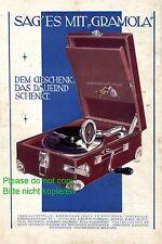 Grammophon Gramola XL Reklame 1931 Plattenspieler Linauer Feichtinger Innsbruck