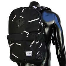 Herschel Supply Classic 20L Code Womens Mens Black/White Backpack School bag