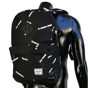 Herschel Supply Classic 20L Code Womens Mens Black/White Backpack School bag