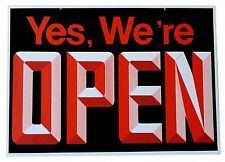Open/Closed Big Visible Sign With 3D Graphics 18 Wide x 13 High Double Sided