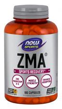NOW Foods ZMA 180 Caps Zinc Magnesium Vitamin B6 Muscle Recovery & Sleep 01/24EX