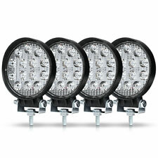 42W Round LED Work Light Bar Pods Offroad SUV 4X4 Truck 4WD ATV Driving Fog Lamp