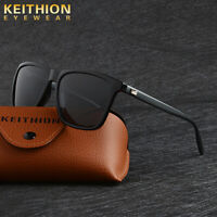 KEITHION Mens Sunglasses Polarized Square Frame Aluminium Legs Driving Eyewear