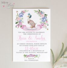 JEMIMA PUDDLEDUCK PERSONALISED CHRISTENING INVITES - Pack of 8 - BABY GIRL
