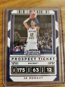 2020 Panini Contenders Draft Picks Prospect Ticket Ja Morant Grizzlies,...