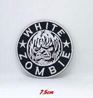 WHITE ZOMBIE Iron Sew On Embroidered Logo Patch #018