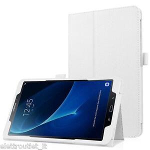 CUSTODIA COVER Integrale SMART SUPPORTO per Samsung Galaxy Tab A 10.1 2018 Bianc