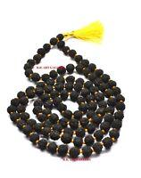 BLACK RUDRAKSHA MALA (108+1) BEADS / ROSARY / 5 MUKHI RUDRAKSH MALA VERY RARE