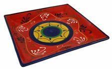 Espagnol poterie céramique handmade square plaque serving dish 22x22 cm