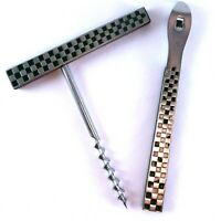 YAX Vintage Bottle Cork Screw and Can Opener Set Retro Stainless Steel JAPAN