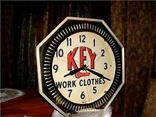 "1940's Key Work Clothes Neon display clock sign ""Old"""