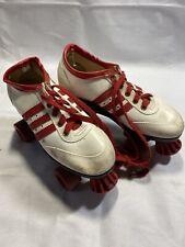 Vintage 70's Roller Derby Skates RED WHITE BLUE Tennis shoes 5-7 E4
