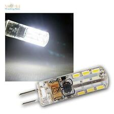5 x LED-Stiftsockel-Lampe G4, 24 SMD LEDs 110lm kaltweiß Leuchtmittel 12V Birne
