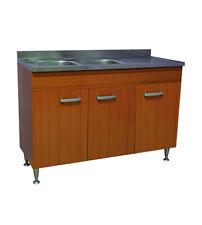 Mobile cucina teak 3 ante con lavello inox sinistro 120 componibile sottolavello