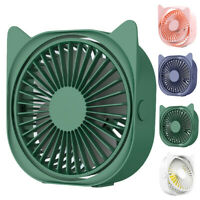 AU_ IC- Cy_ Mini Cat Ears USB Powered Rotatable Desktop Quiet Cooling Fan for Ho