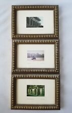Vintage New Orleans City Photos Pictures Set of 3 Framed Matted Home Art Prints