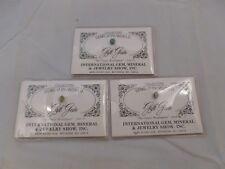 International Gem, Mineral & Jewelry Show Gems of the World Emeralds set of 3