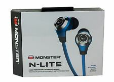 Monster N-LITE In-Ear Headphones High Performance Audio - Candy Blueberry Color