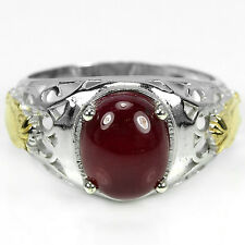 _LDN_Bague Blood red Rubis_Argent 925_T60 + plaque or_Liquidation totale